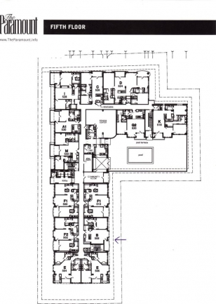 5th Floor plan of The Paramount