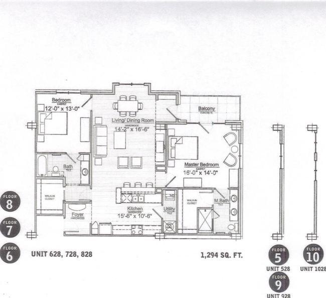 The Paramount Sisth Floor Plan