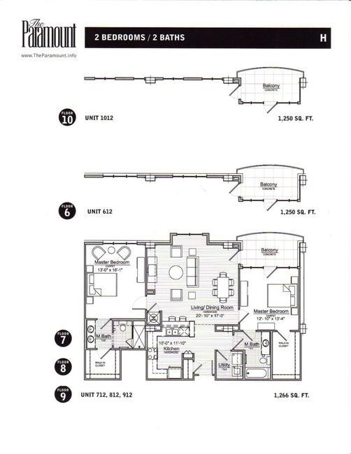 The Paramount 8th Floor Plan